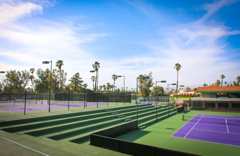 Rental tennis court at Country Club and Resort Rentals.
