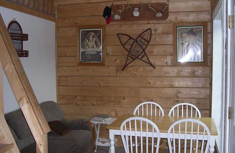 Cabin living room at Big Sky Charter & Fishcamp.