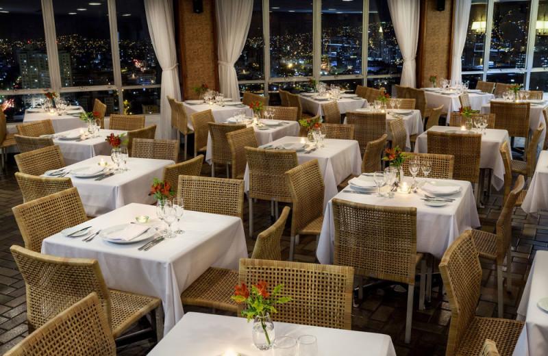 Dining at Belo Horizonte Othon Palace Hotel.