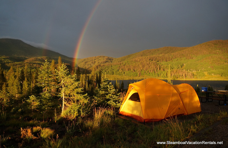 Camping at Steamboat Vacation Rentals.