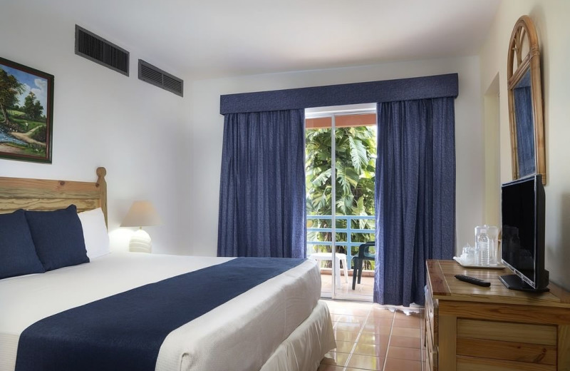 Guest room at Don Juan Beach Resort - - Boca Chica Beach, Dominica.