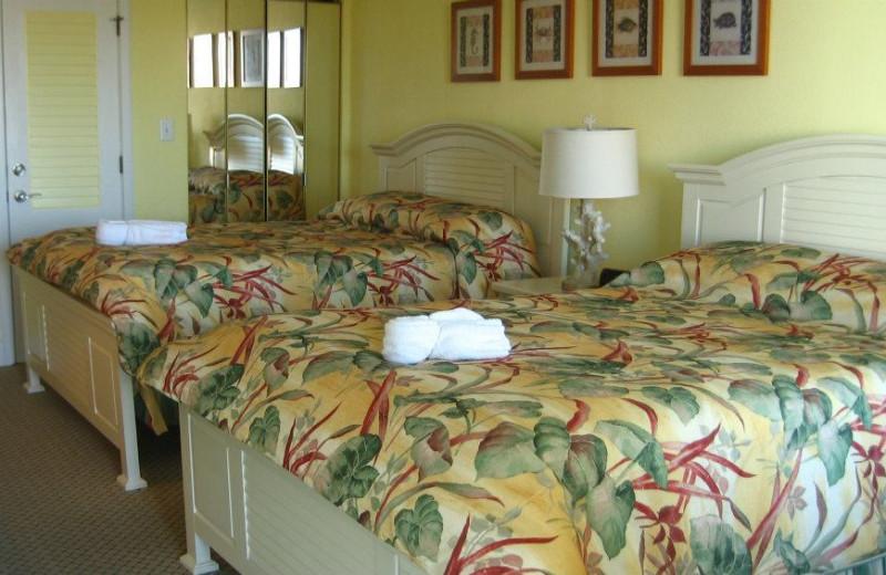 Guest room at The Villas of Hatteras Landing.