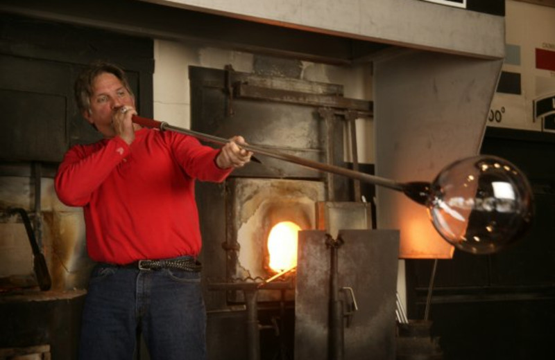 Glass Blowing at Dollywood Cabins.