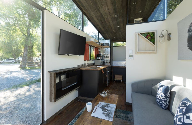 Cabin interior at Fireside Resort at Jackson Hole.