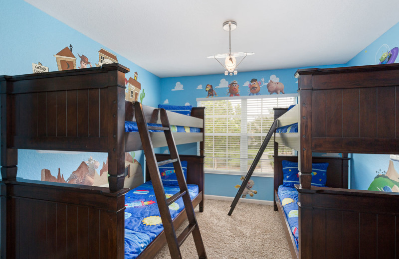 Rental bedroom at Reunion Vacation Homes.