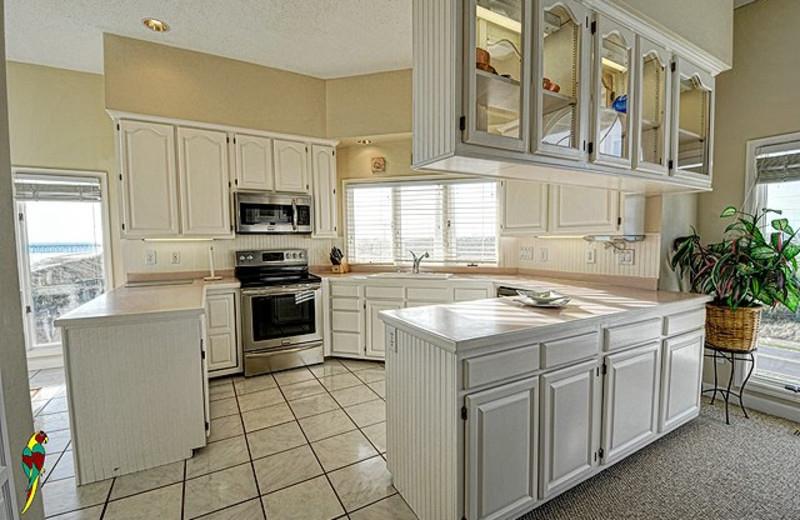 Rental kitchen at Treasure Realty.
