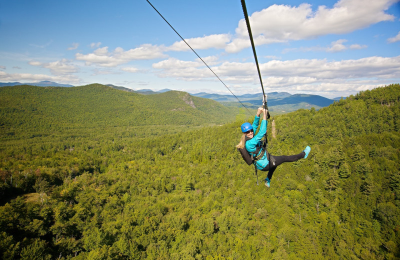 Zip line at Stowe Mountain Lodge.