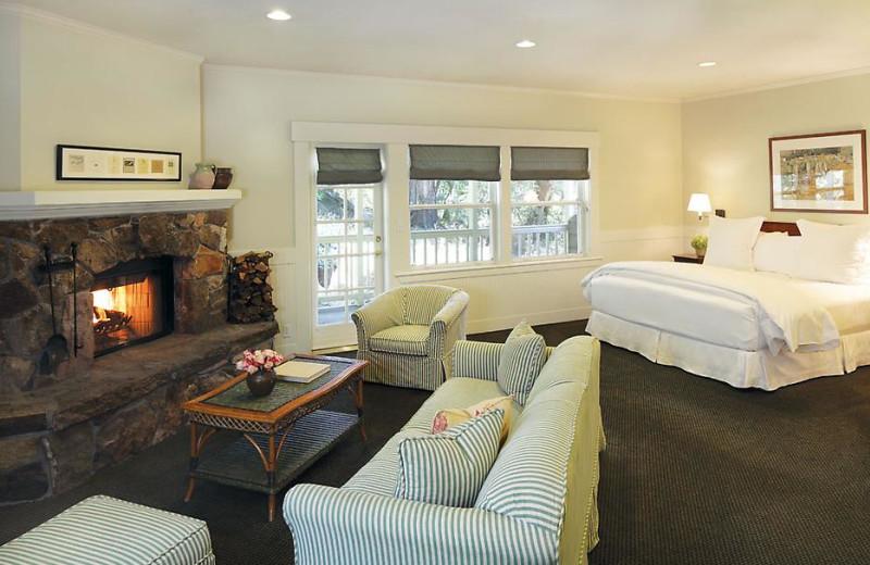 Hillside terrace room at Meadowood Napa Valley.
