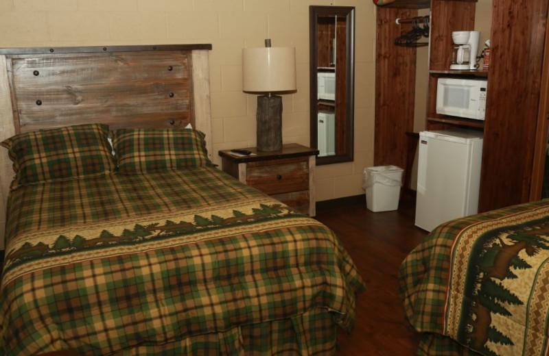 Guest room at Granite Springs Lodge.