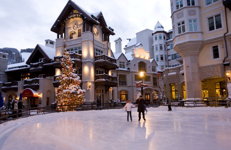 Ice skating at Arrabelle at Vail Square.