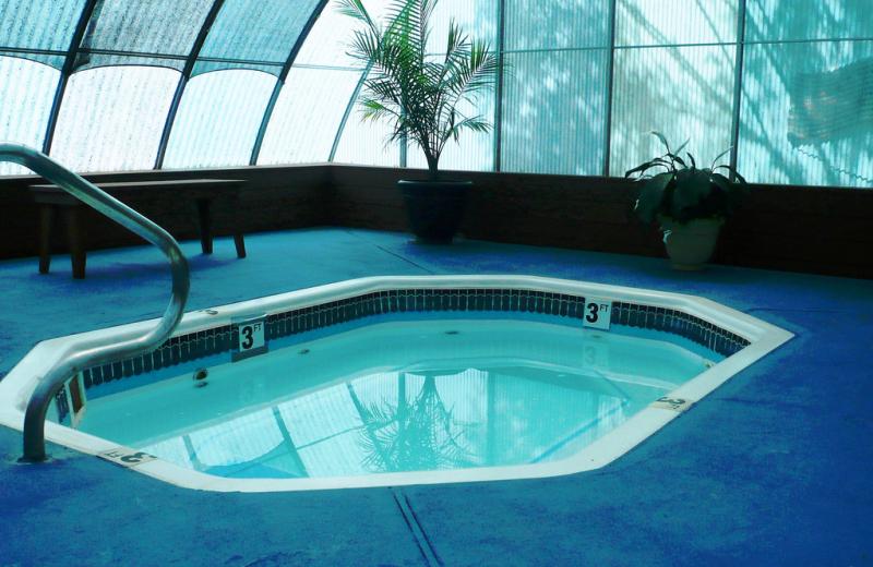 Indoor whirlpool at American RV Park.