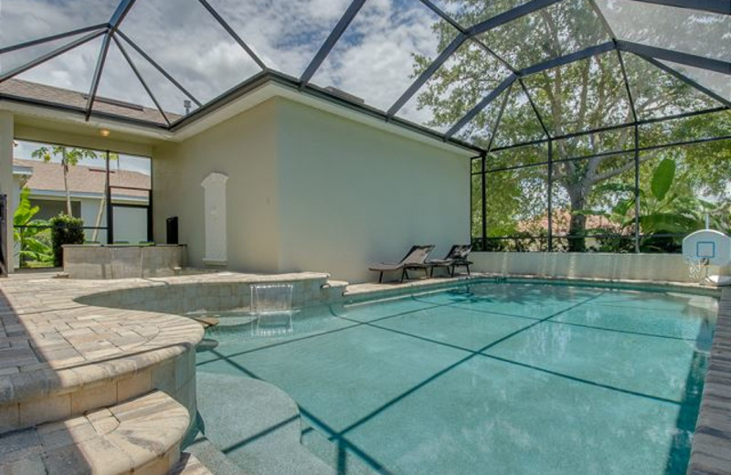 Rental pool at Luxury Reunion Rentals.