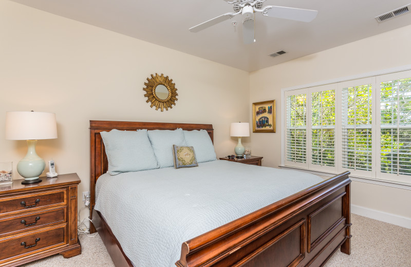 Guest bedroom at Sea Palms Resort.