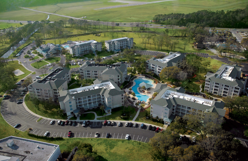 Aerial view of Holiday Inn Club Vacations South Beach Resort.