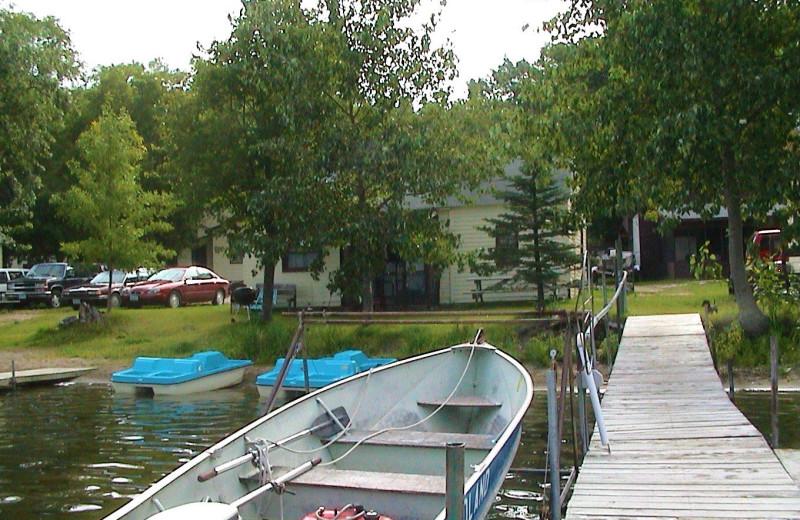 Dock at Woodland Resort.