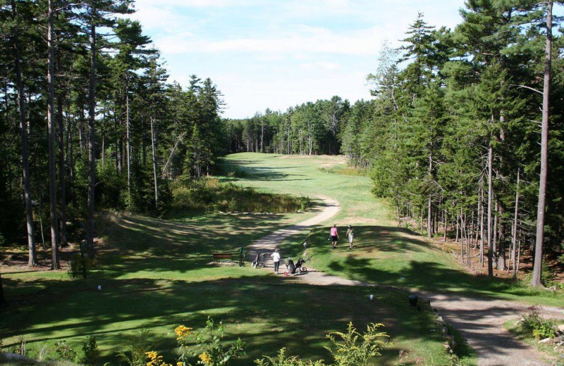 Golf course at Sebasco Harbor Resort.