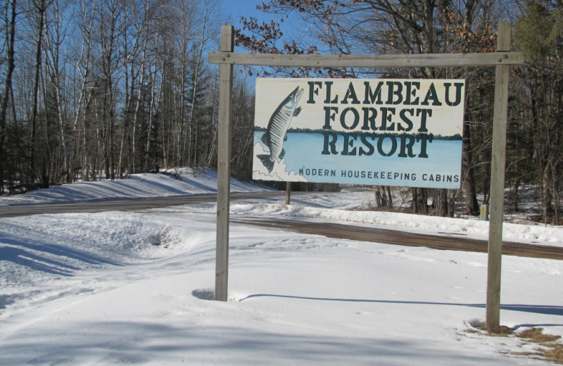 Winter at Flambeau Forest Resort.