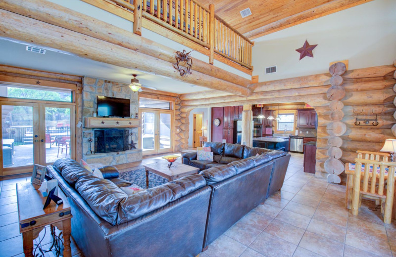 Rental living room at Log Country Cove.