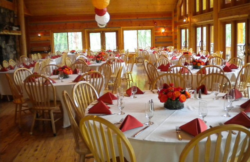Wedding reception at Mountain Springs Lodge.