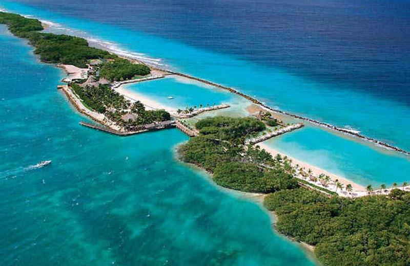 Aerial view of Renaissance Aruba Resort & Casino.