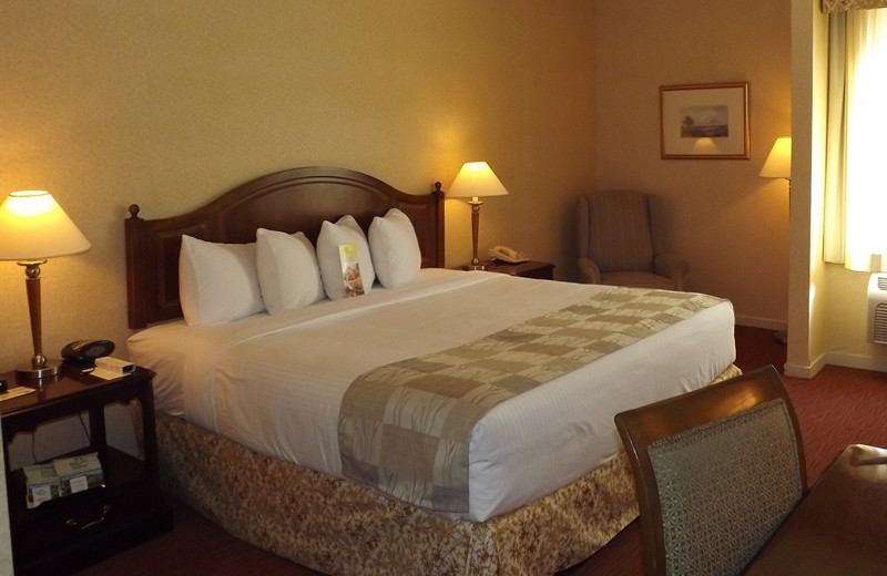 Guest room at The Heritage Hotel.