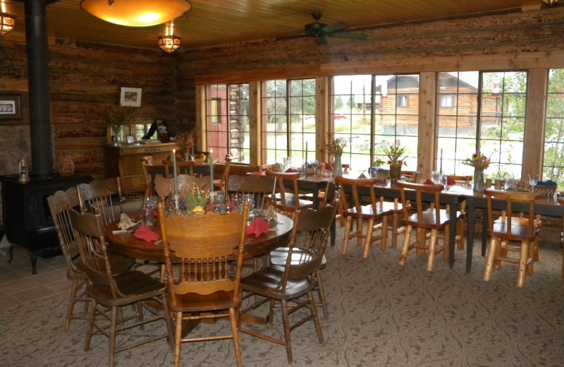 Dining at Medicine Bow Lodge.