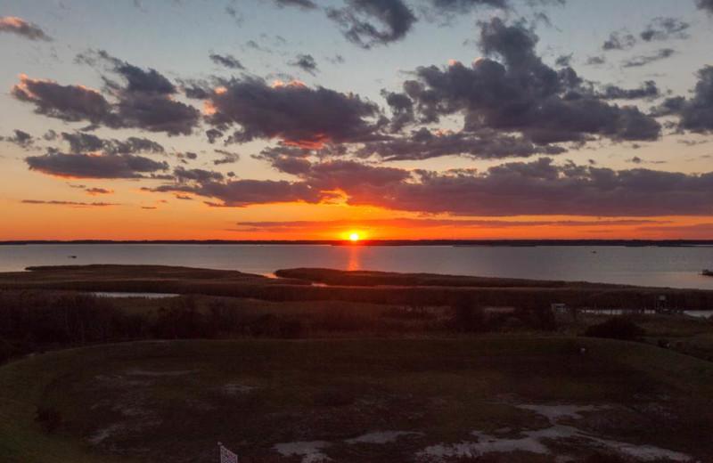 Sunset at Sanctuary Vacation Rentals at Sandbridge.