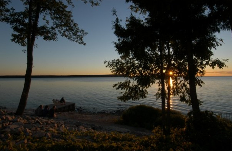 Sunrise at Westwood Shores Waterfront Resort.
