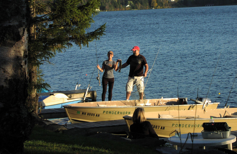 Fishing at Powder Horn Lodge