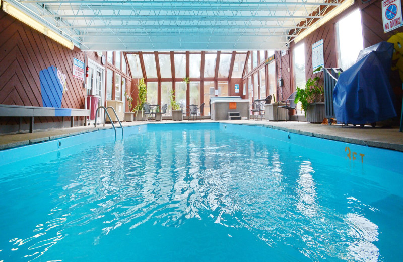 Indoor pool at Murphy's River Lodge.