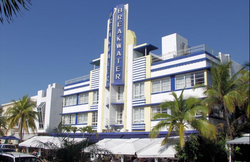 Exterior view of Breakwater Hotel.