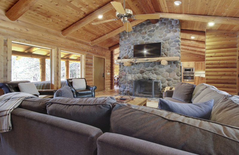 Rental living room at Mountain Resort Properties.