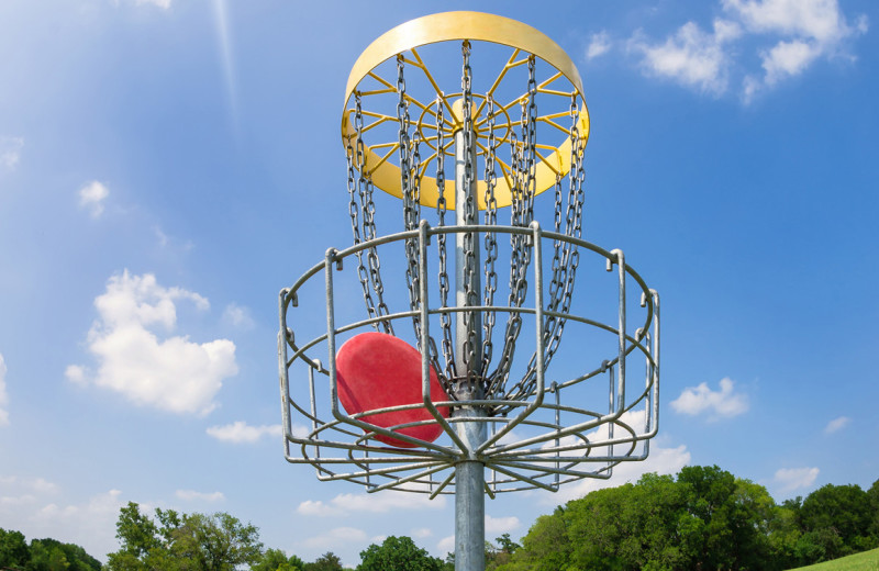 Disc golf at ACE Adventure Resort.