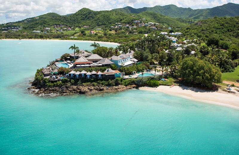 Aerial view of Cocobay Resort.