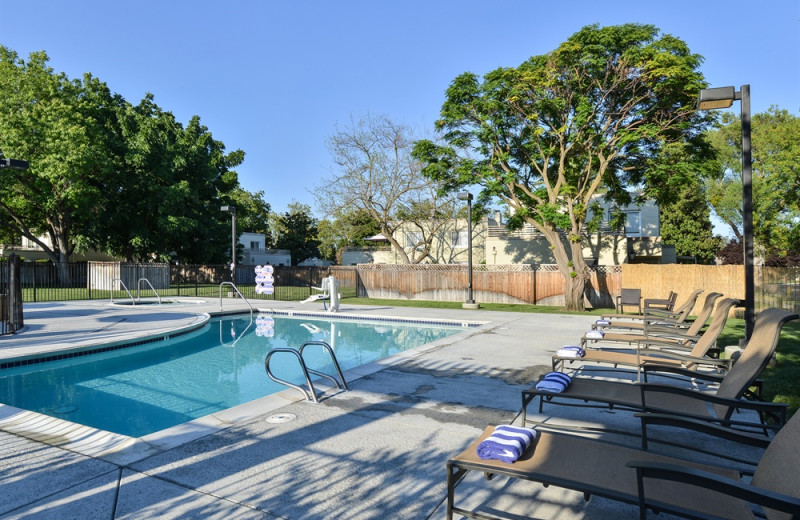 Outdoor pool at Lions Gate Hotel.