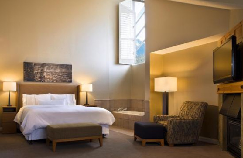 Guest room at The Westin Resort & Spa, Whistler.