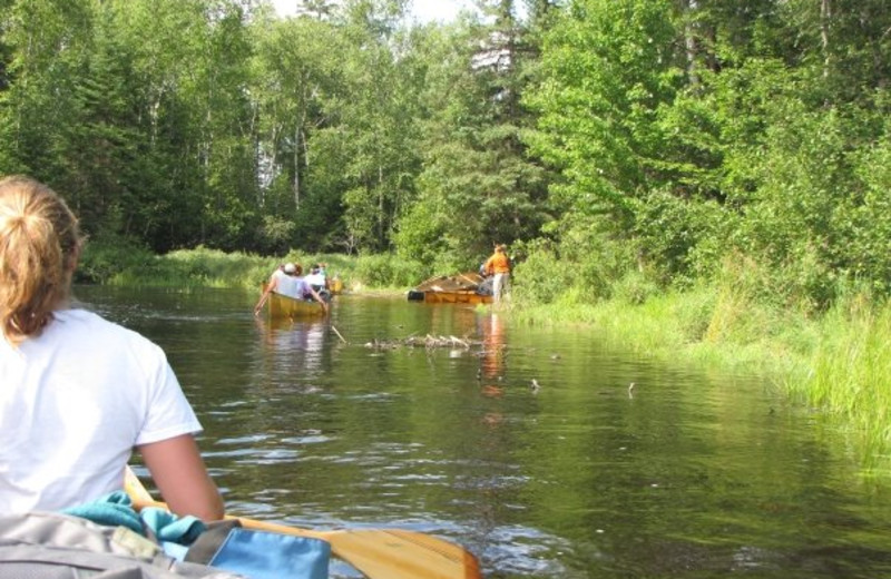 Canoeing activities at Moose Track Adventures Resort.