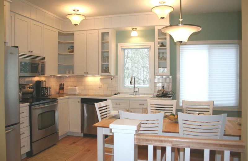 Vacation rental kitchen at The Beach House.