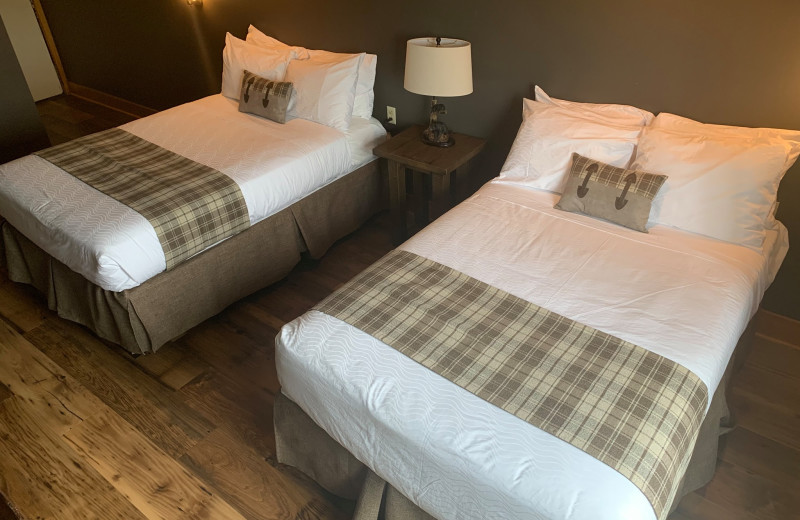 Guest room at Superior Shores Resort.