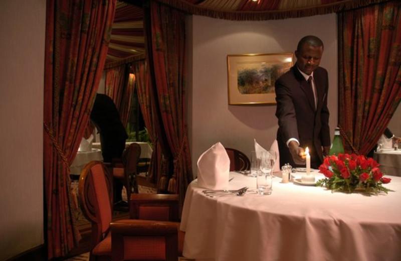 Dining at Nairobi Serena Hotel.