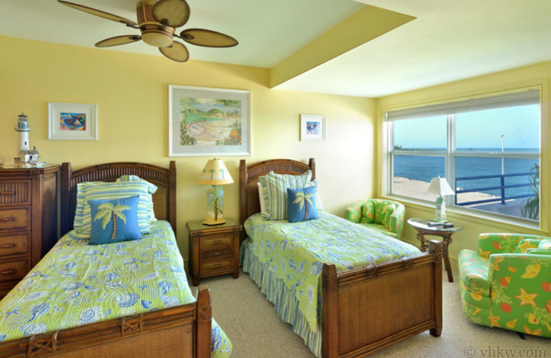 Rental bedroom at Vacation Homes of Key West.