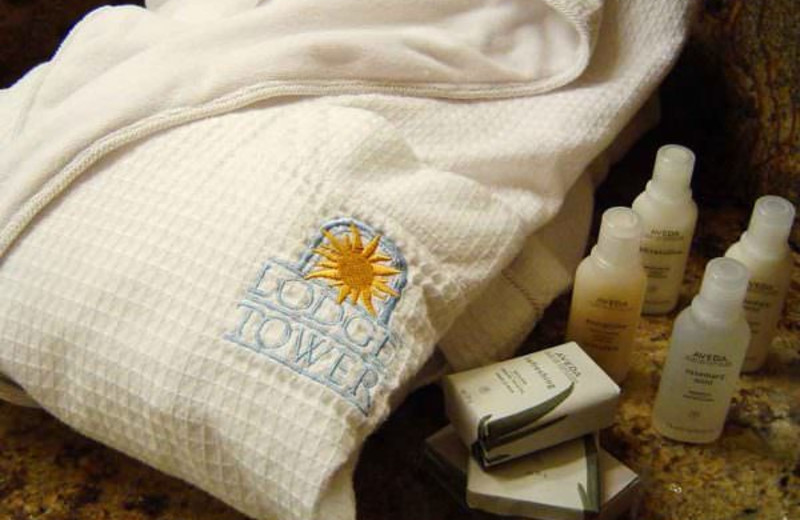 Spa amenities at Lodge Tower.