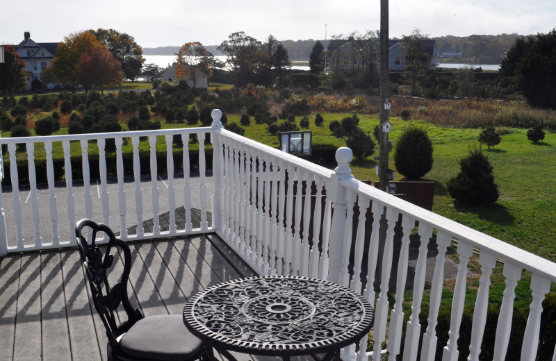 Guest patio at A Victorian On The Bay.