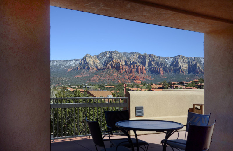 Patio view at Inn of Sedona.