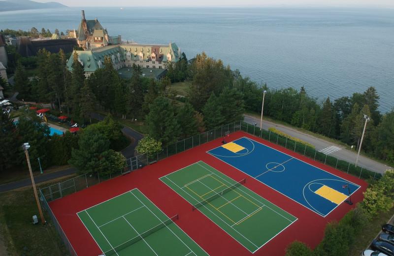 Tennis court at Fairmont Le Manoir Richelieu.