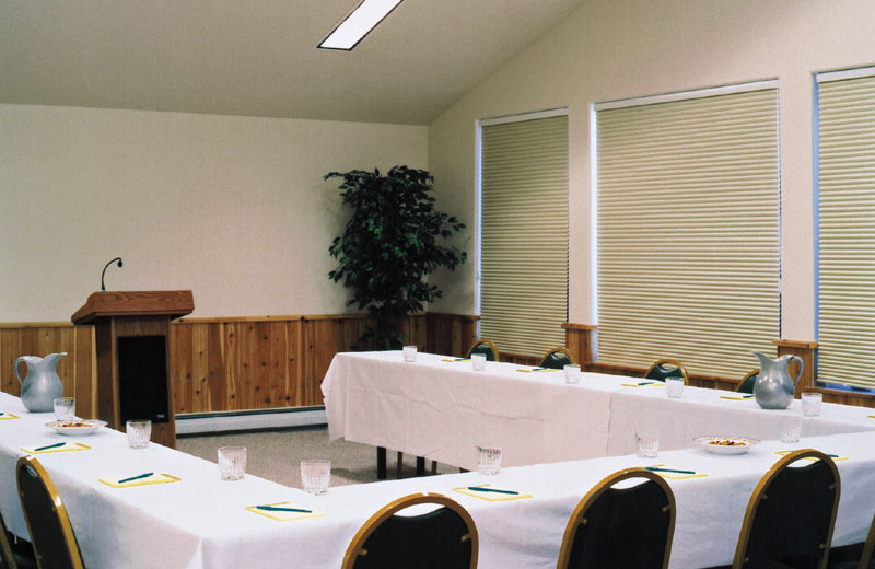 Conference room at Kandahar Lodge.