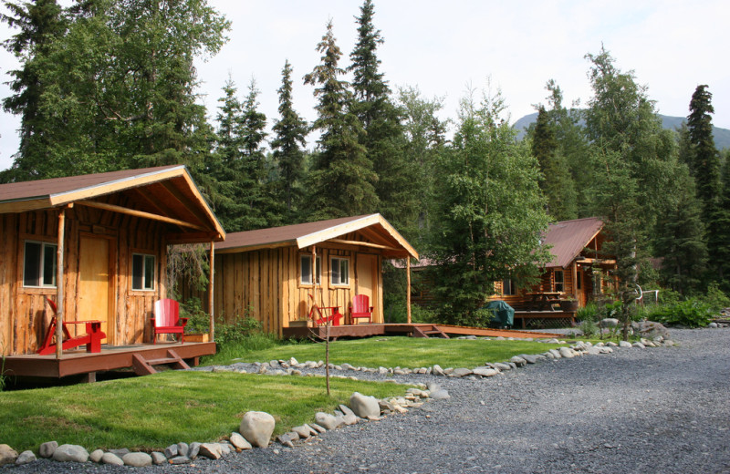 Cabins at Kenai Riverside Lodge.