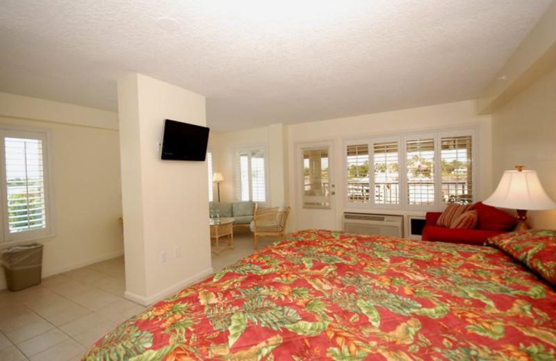 Guest room at Pirate's Cove Resort & Marina.