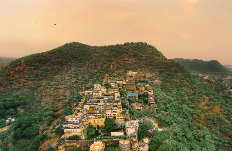 Exterior view of Neemrana Fort-Palace.
