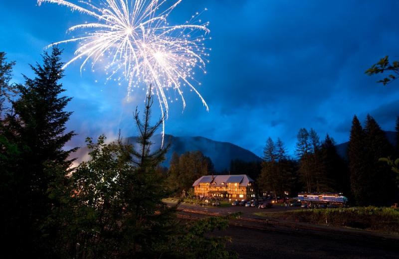 Fireworks at Izaak Walton Inn.